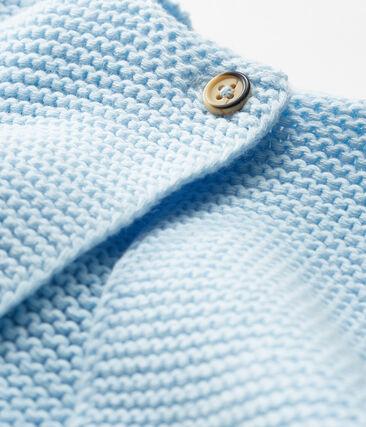 Cardigan bebè in tricot 100% cotone blu Toudou