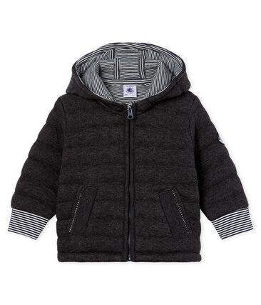 Piumino con zip bebè maschio in tubique trapuntato grigio City Chine