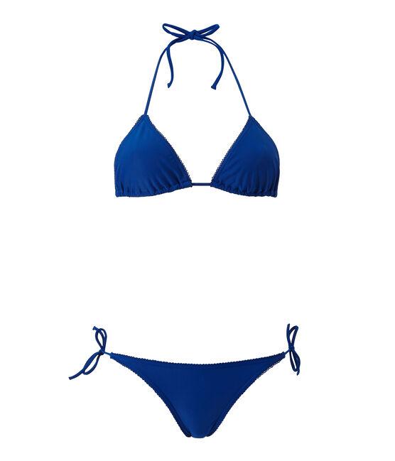 Costume da bagno 2 pezzi tinta unita blu Perse