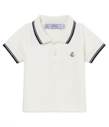 Polo mc neonato maschietto in piqué tinta unita bianco Marshmallow