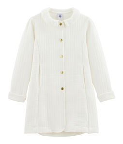 Cappotto bambina bianco Marshmallow