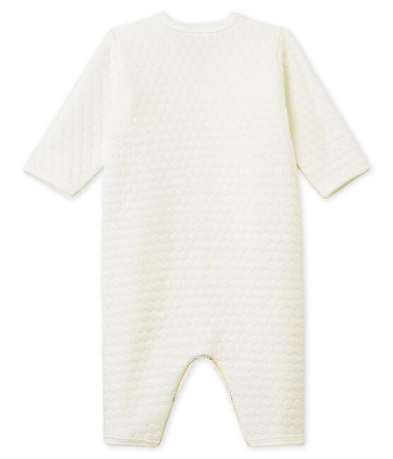 Tutina pigiama senza piedi in tubique per neonati bianco Marshmallow