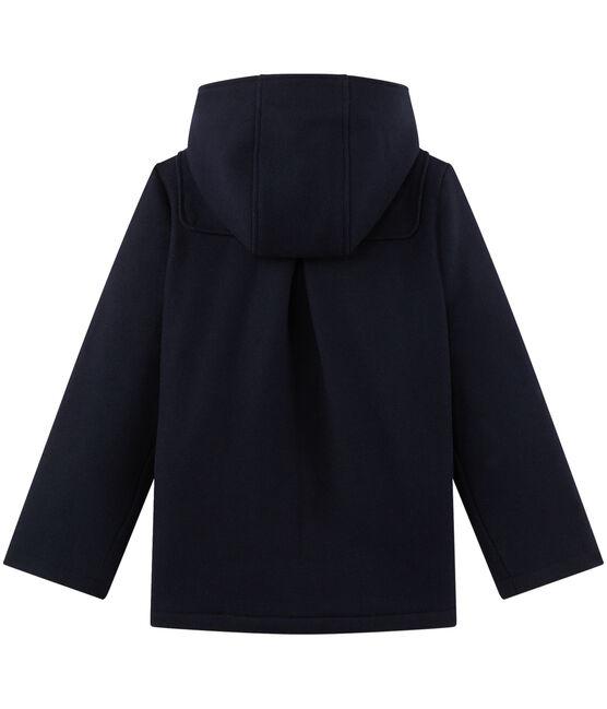 Montgomery per bambina in lana blu Smoking