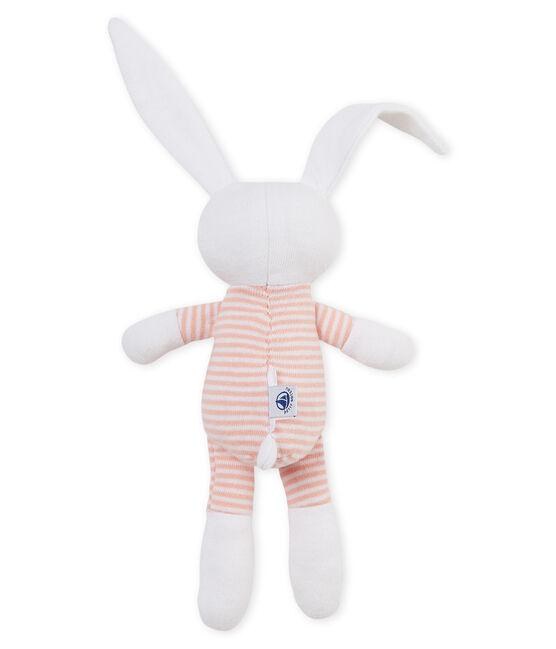 Doudou coniglietto bebè in jersey rosa Rosako / bianco Marshmallow