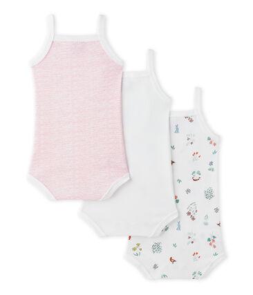 Lotto di 3 bodies per bebé femmina con spalline