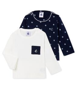 Confezione da 2 T-shirts a manica lunga bebè maschio