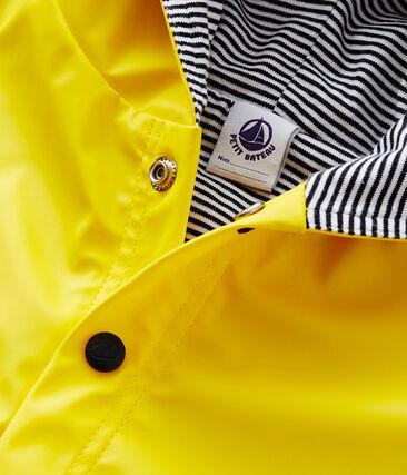 Mantellina da pioggia a tinta unita bebè unisex giallo Jaune
