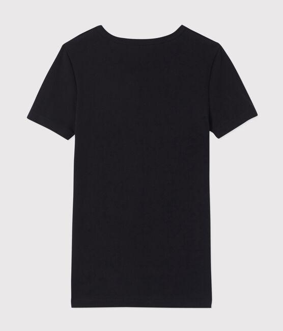 T-shirt maniche corte scollo a V Uomo nero Noir