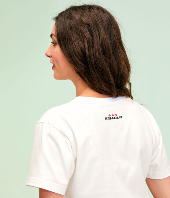 T-shirt unisex bianco Marshmallow