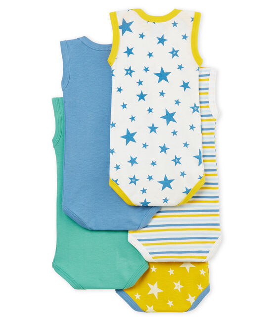 Confezione da 5 body manica corta bebè maschietto lotto .