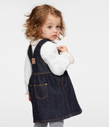 Abito salopette bambina di jeans blu Jean