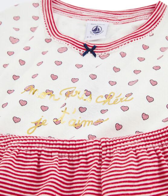 Duo pigiama corto bambina a costine lotto .
