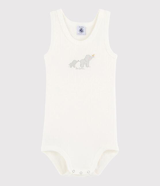 Body senza maniche bebè unisex bianco Lait