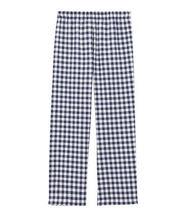 Pantaloni del pigiama ragazzo bianco Lait / blu Medieval
