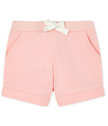 Short bebè femmina - maschio in maglia rosa Minois