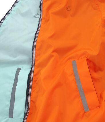Giacchetta reversibile bambino unisex arancione Carotte / blu Fontaine