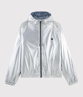 Calda giacca a vento riciclata donna/uomo grigio Argent