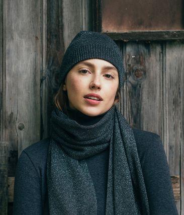 Cuffia brillante donna nero City / grigio Argent