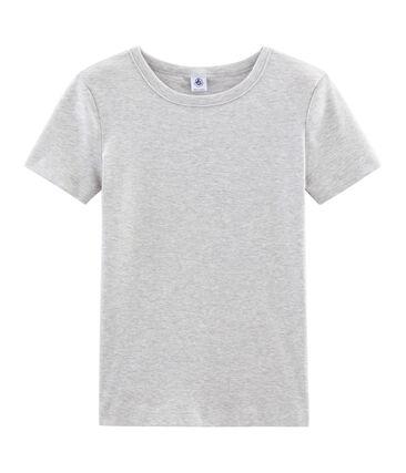 T-shirt manica corta iconica donna grigio Beluga