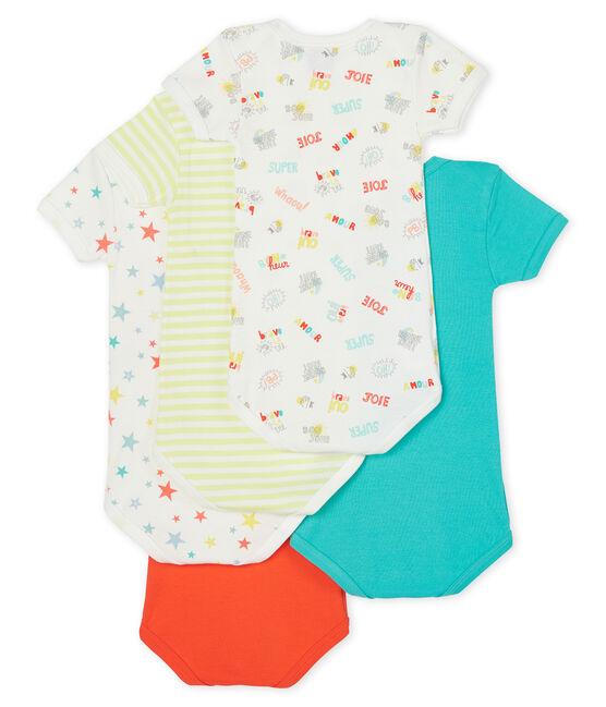 Confezione da 5 body manica corta bebè maschio lotto .