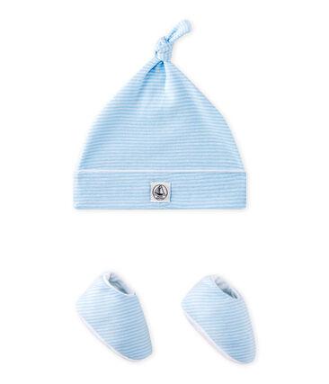 Coordinato cappellino nascita + scarpine bebé