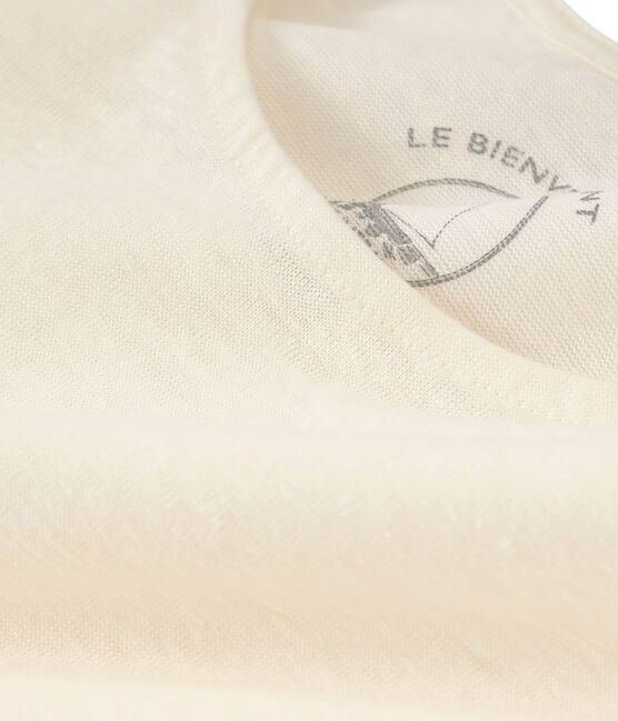 Canottiera in lino donna bianco Marshmallow