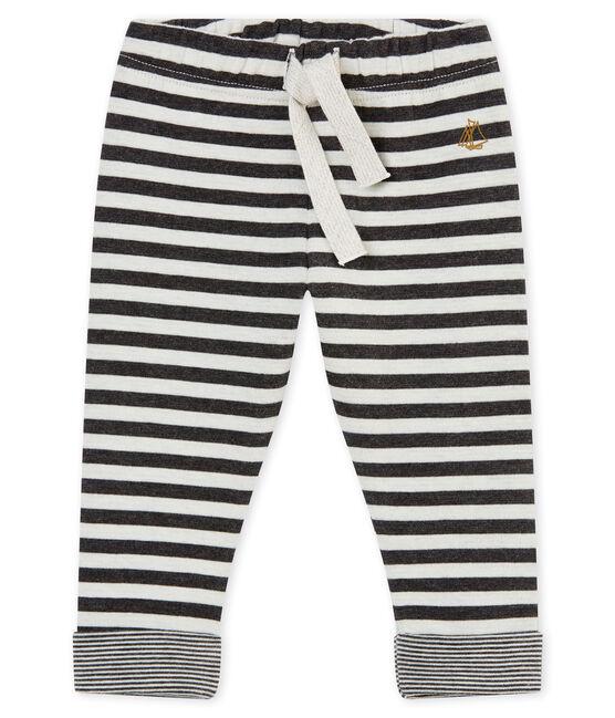 Pantalone rigato per bebé maschio nero City / bianco Marshmallow