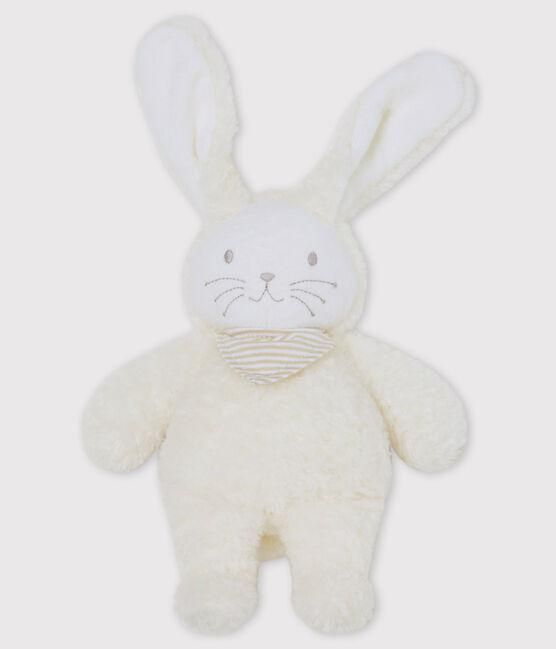 Doudou coniglietto musicale bebè in sherpa bianco Marshmallow