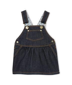 Abito salopette bebè femmina di jeans blu Jean