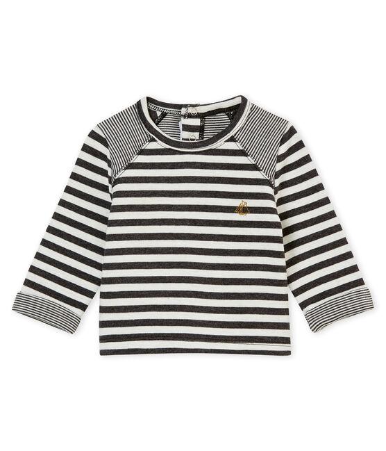 tee-shirtrigata per bebé maschio nero City / bianco Marshmallow