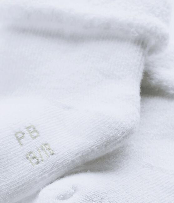 Calzini bebè in spugna bianco Ecume