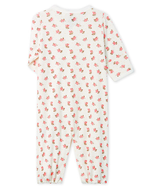 Combisac bebè a costine bianco Marshmallow / rosa Gretel