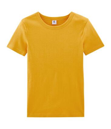 T-shirt manica corta iconica donna giallo Boudor