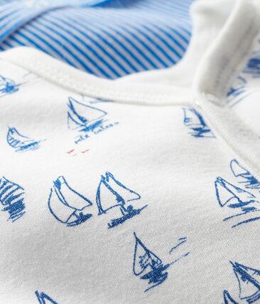 Duo tutine pigiama neonato a costine lotto .