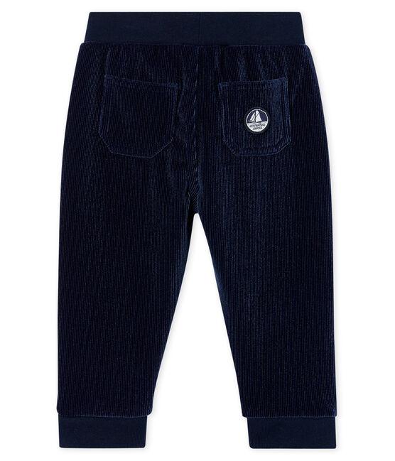 Pantalone bebè maschio in maglia di velluto a costine SMOKING