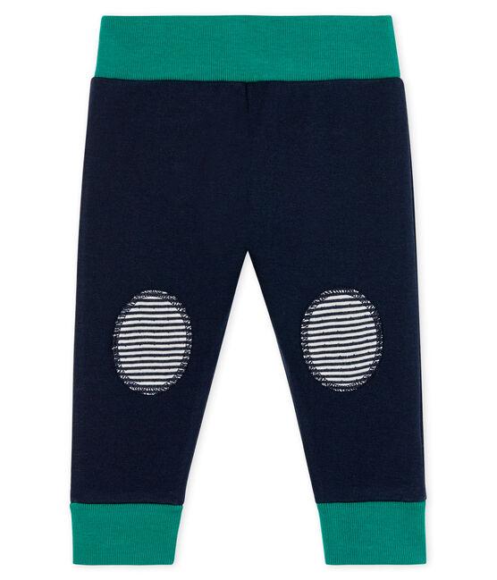 Pantalone bebè in tubique blu Smoking