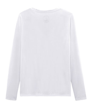 T-shirt maniche lunghe donna in cotone sea island