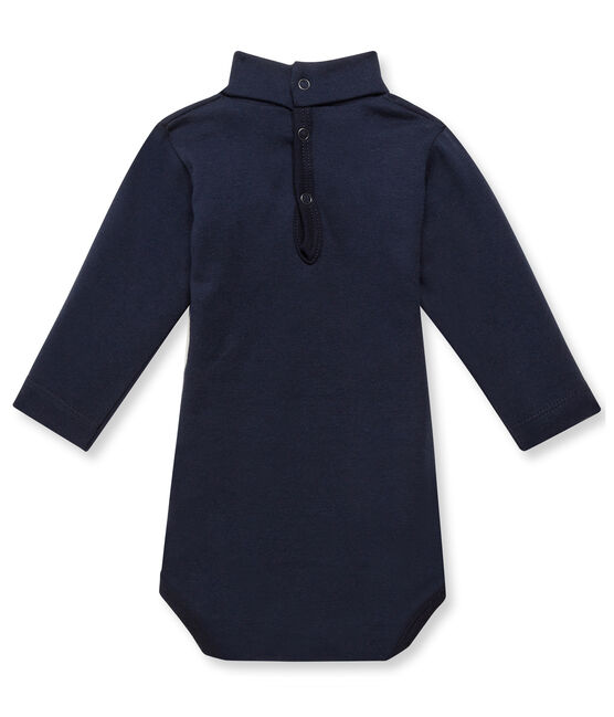 Body bébé con collo alto blu Smoking