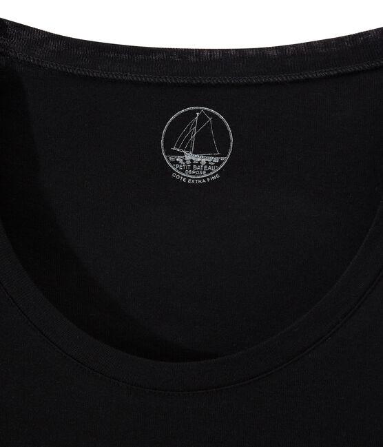 T-shirt a manica lunga con scollo rotondo donna nero Noir