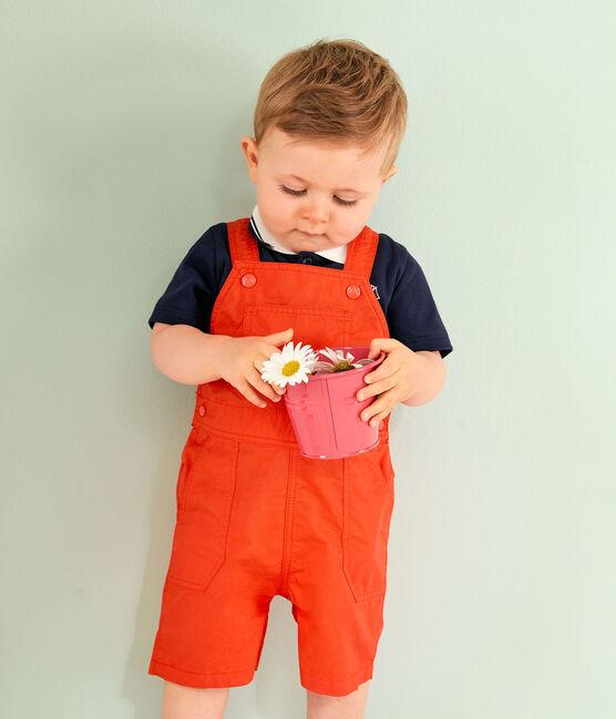 Salopette corta da bambino arancione Spicy