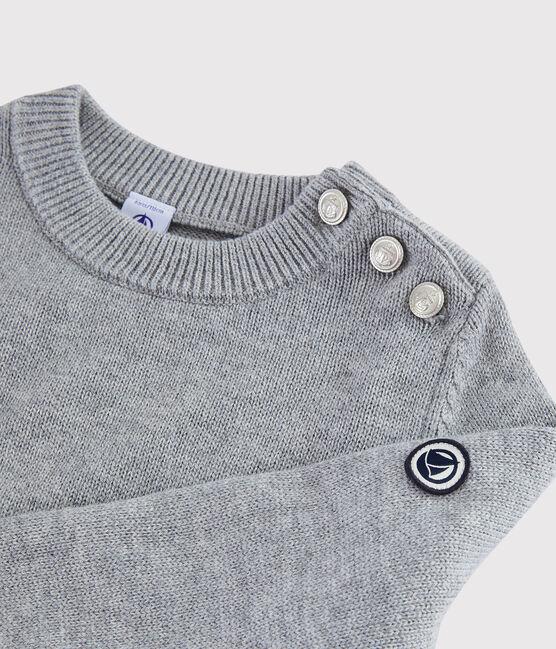 Pullover in lana e cotone bambino grigio Subway
