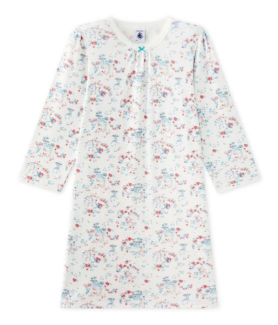 Camicia da notte per bambina stampata bianco Lait / bianco Multico