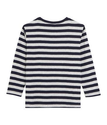 T-shirt a maniche lunghe bambino blu Smoking / grigio Beluga