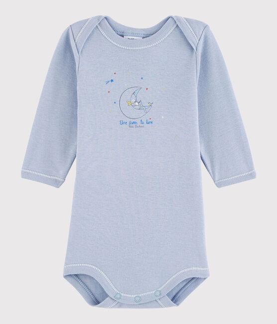 Body manica lunga bebè maschietto blu Vanais