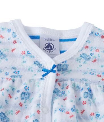 Tutina per bebè bambina in tubique stampato