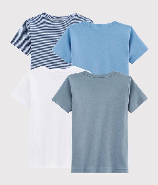 Pochette a sorpresa di 4 t-shirt maniche corte bambino lotto .