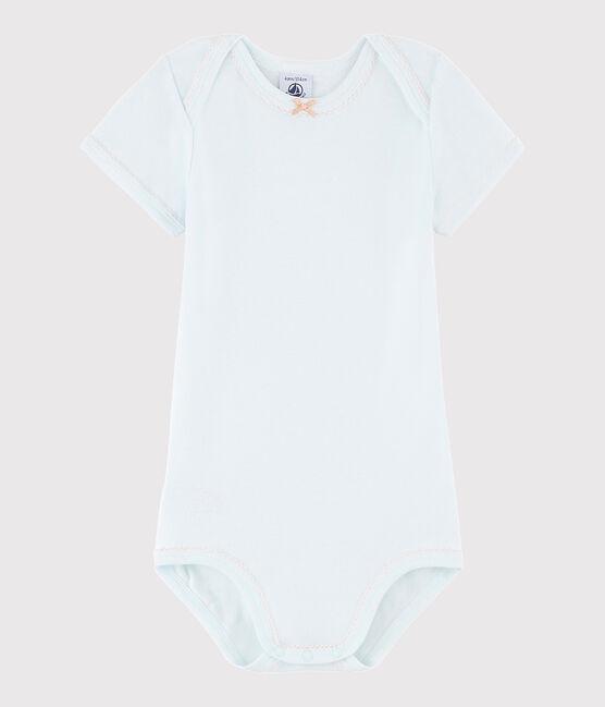 Body manica corta bebè femmina blu Bocal
