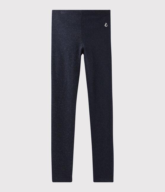 Leggings in jersey bambina blu Smoking / giallo Or