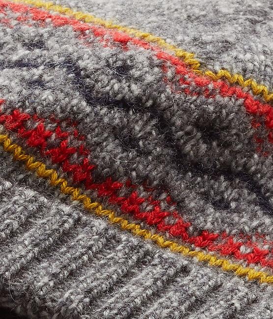 Cappello per bambino in misto lana grigio Subway / bianco Multico