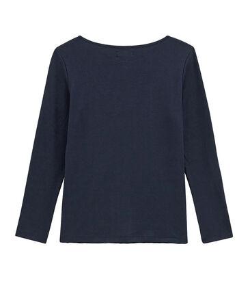 tee-shirtdonna maniche lunghe blu Smoking
